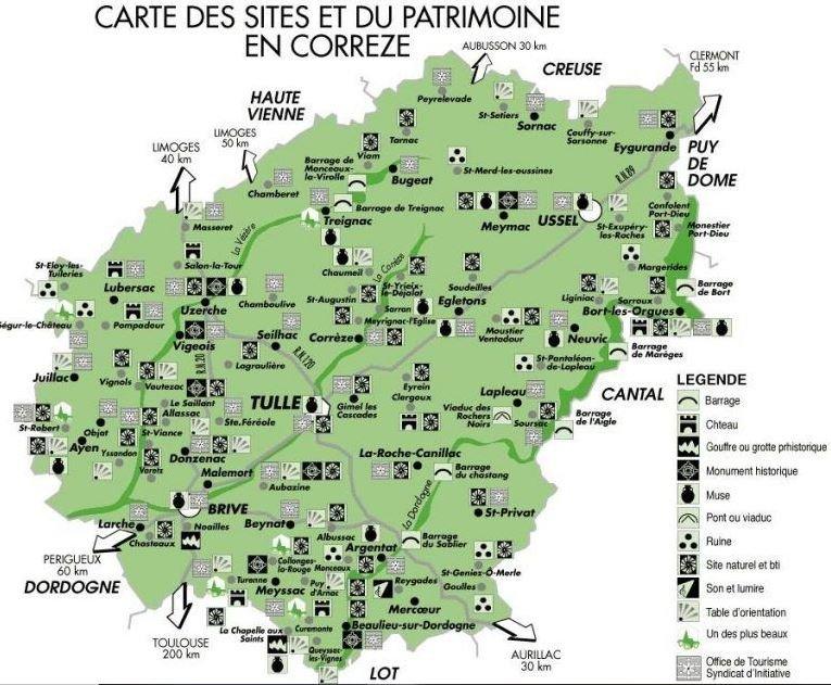Carte Corrèze